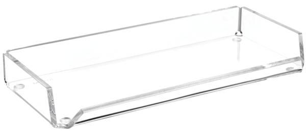 Acryl Stifteschale, 1 Fach, 220 x 30 x 100 mm, glasklar