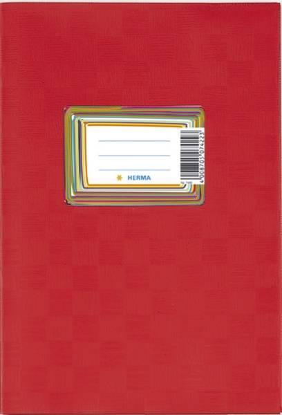 7430 Heftschoner PP A5 gedeckt weinrot