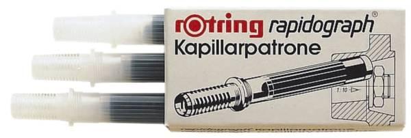 ROTRING Tuschepatrone 3ST schwarz S0194640 R590517