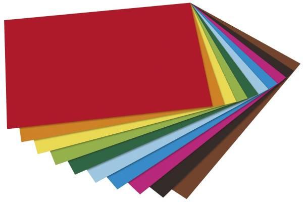 Tonpapier A4, 10 Farben sortiert