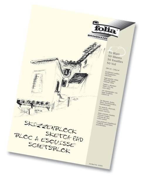Skizzenblock 120 g qm, DIN A3, 50 Blatt