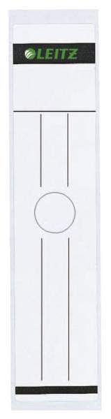 6093 Rückenschild für Hängeordner breit lang, 10 Stück, weiß