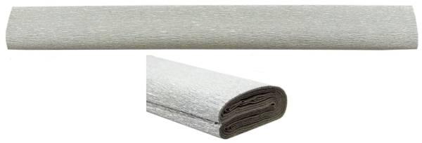 Krepppapier 50 cm x 2,5 m, silber
