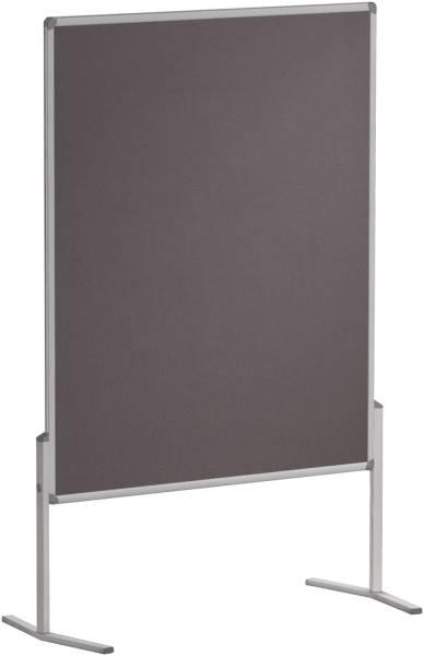Moderationstafel PRO, 120 x 150 cm, grau Filz, einteilig