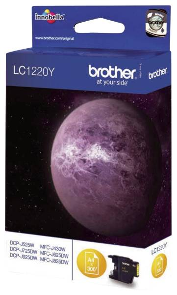 BROTHER Inkjetpatrone yellow LC1220Y