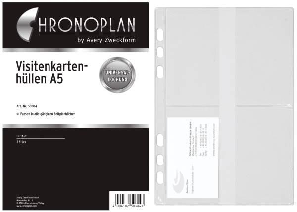 CHRONOPLAN Visitenkarte Ersatzhülle A5 50384