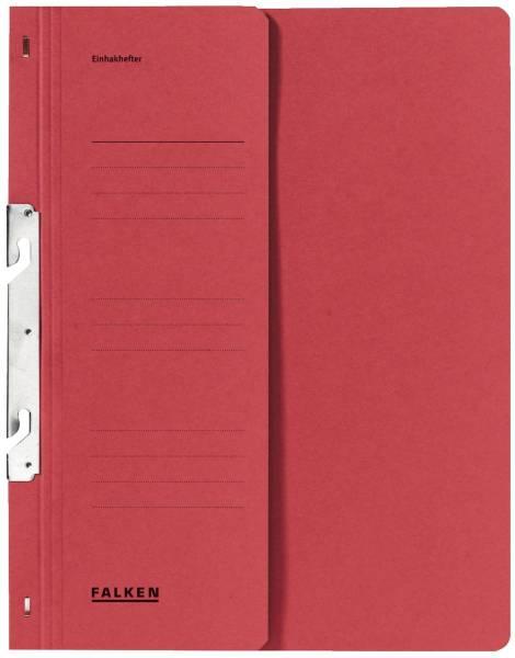 Einhakhefter A4 1 2 Vorderdeckel kfm Helfung, rot, Manilakarton, 250 g qm