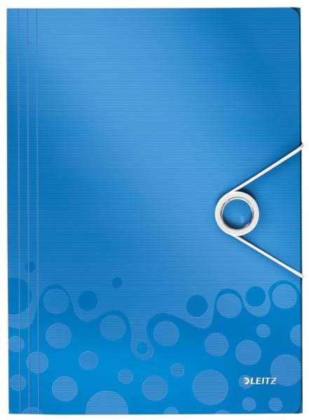 4599 Eckspannermappe WOW A4, PP, blau metallic