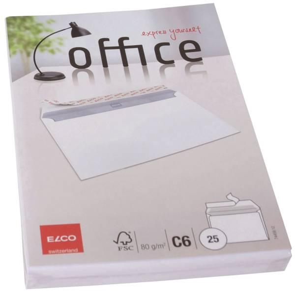 Briefumschlag Office C6, hochweiß, haftklebung, Idr, 80 g qm, 25 Stück