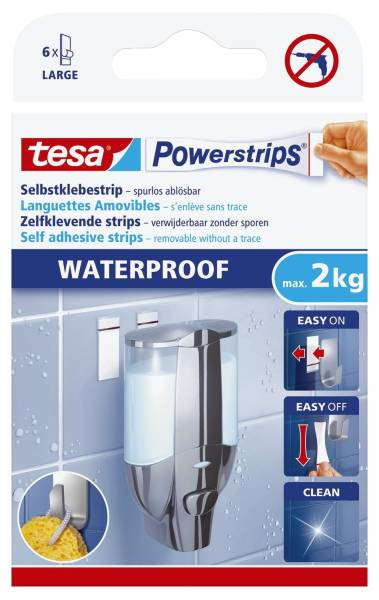 TESA Powerstrips waterproof 59700-00000-04 6St+6Tüch.