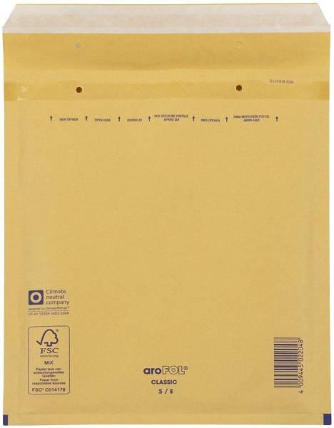 Luftpolstertaschen Nr 5, 220x265 mm, goldgelb braun, 100 Stück
