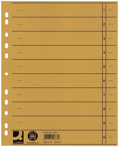 Trennblätter durchgefärbt A4 Überbreite, gelb, 100 Stück
