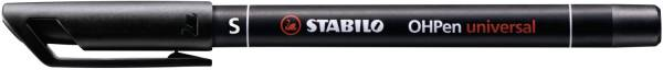STABILO Folienschreiber OHPen S schwarz 841/46 permanent