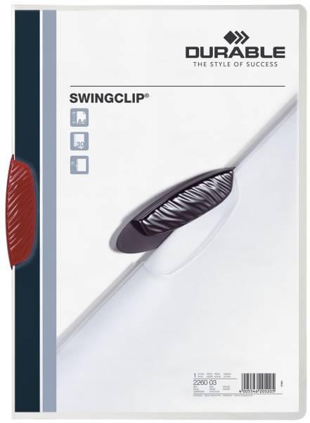 Klemm Mappe SWINGCLIP, DIN A4, rot®
