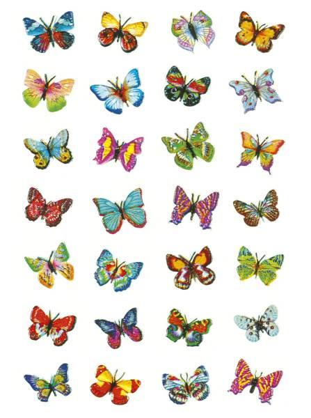 HERMA Schmucketikett Schmetterlinge 28 Stück 6819 Magicsticker Glitterfolie