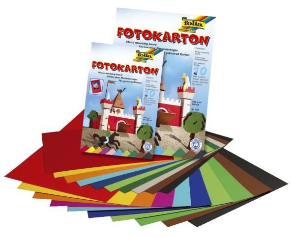 Fotokarton A4, 10 Farben sortiert