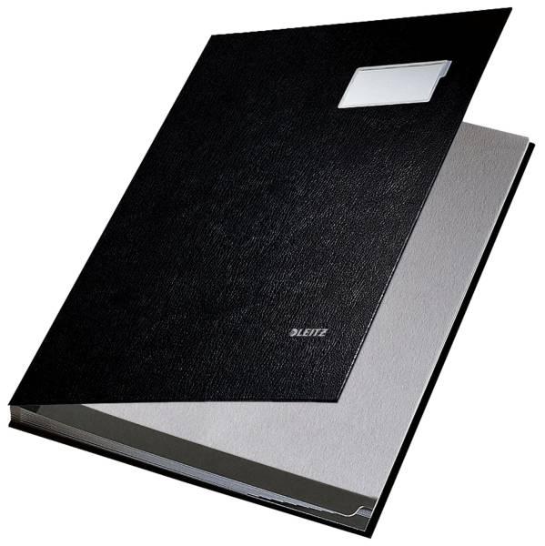 5701 Unterschriftsmappe 10 Fächer, PP kaschiert, schwarz