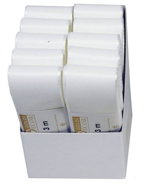 Basic Taftband 40 mm x 3 m, weiß