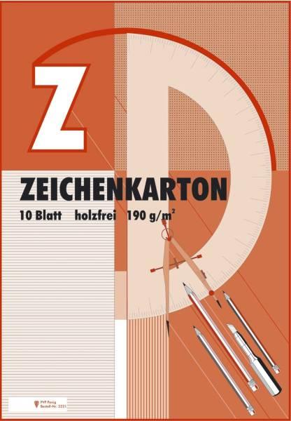 Zeichenkarton Block mit 10 Blatt, 190g qm, A2