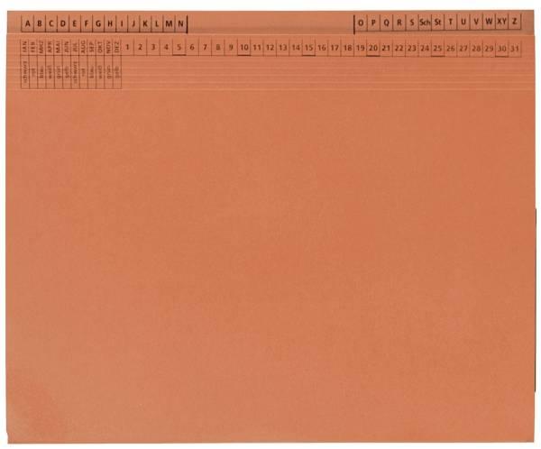 Kanzleihefter B ungefalzt Rechtsheftung Linksheftung, 1 Tasche, 1 Abheftvorrichtung, orange