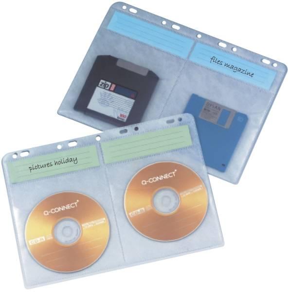 CD DVD Hüllen zur Ablage im Ordner Ringbuch, transparent, 10 Stück
