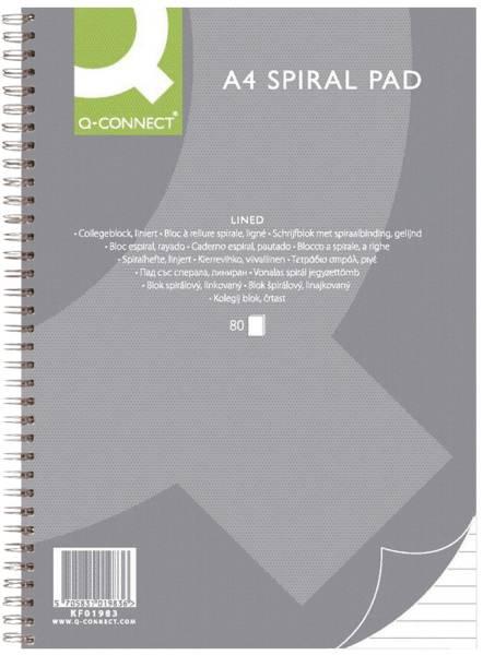 Collegeblock A4, 80 Blatt, 70 g qm, liniert