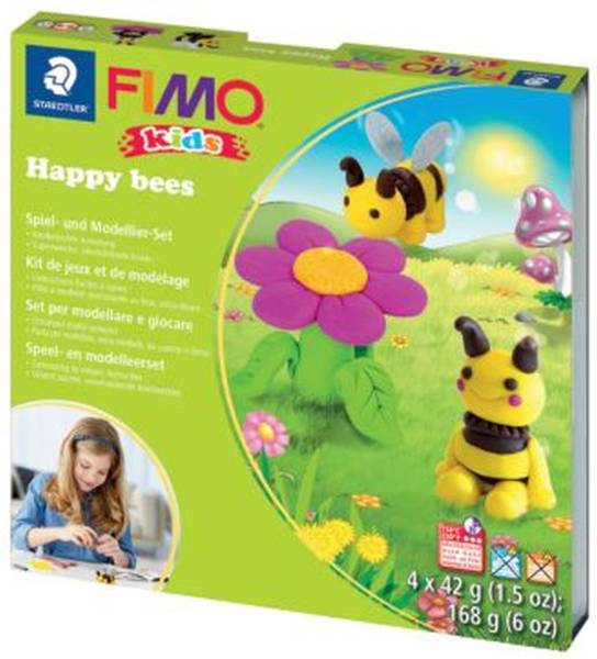 STAEDTLER Modellierset FIMO Kids Happy Bees ST8034 27 LY