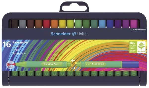 Faserschreiber Link It, 16 Farben im Etui