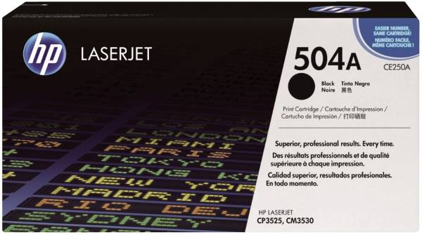 Druckkassetten schwarz, 5 000 Seiten, CE250A®
