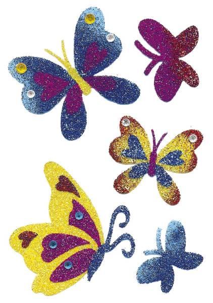 6666 Sticker MAGIC Schmetterlinge Diamond glittery