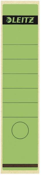 1640 Rückenschilder Papier, lang breit, 10 Stück, grün