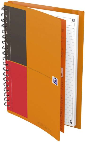 Meetingbook Connect 2:1 Collegeblock und Gummizugmappe, B5, liniert, 80 Blatt, 4 Eckmarkierungen zum