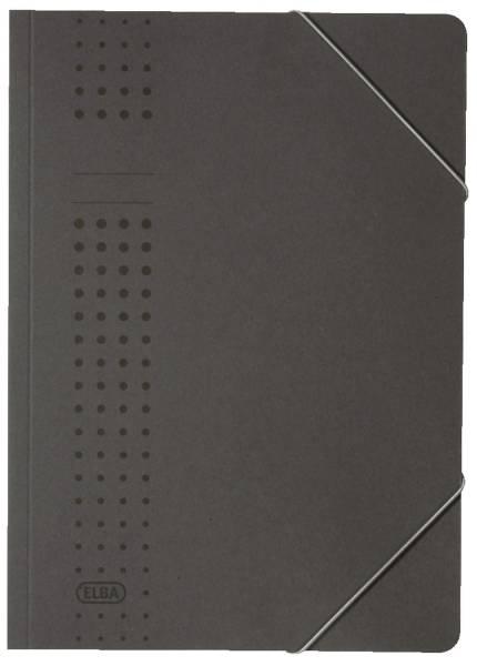 Eckspanner chic, Karton (RC), 320 g qm, A4, anthrazit