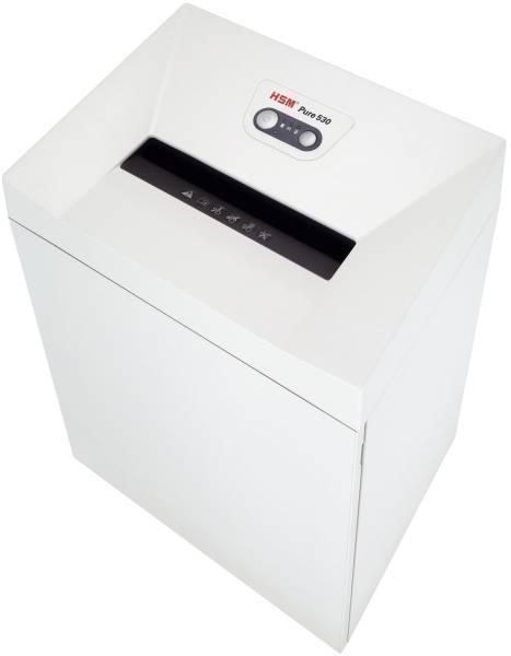 HSM Aktenvernichter Pure 530 weiß 2350111 Streif.3,9