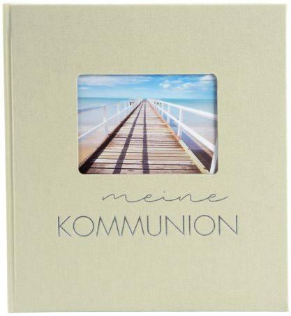 Erinnerungsalbum Kommunion Pastell 23 x 25 cm, lindgrün