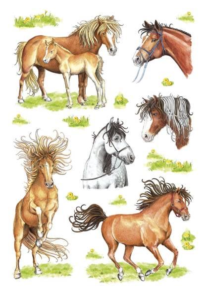 3307 Sticker DECOR Gezeichnete Pferde
