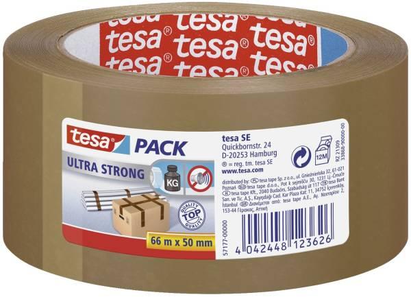 Verpackungsklebeband tesapack Ultra Strong, PVC, 66 m x 50 mm, braun®