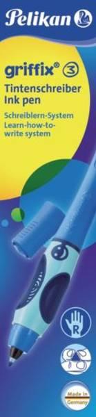 PELIKAN Tintenroller Griffix blau Faltschachtel 955161 T2 rechts
