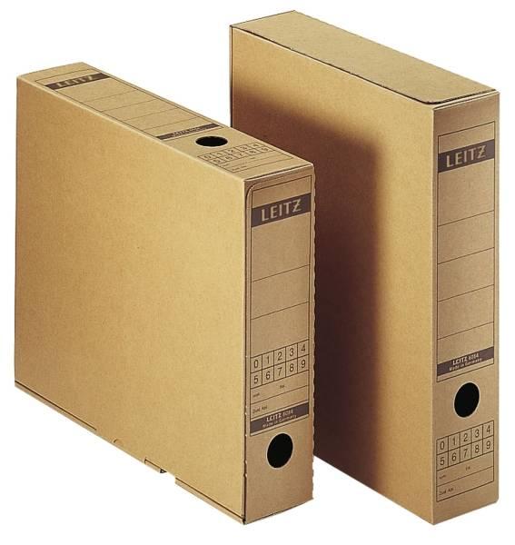 6084 Archiv Schachtel, A4, mit Verschlusslasche, naturbraun