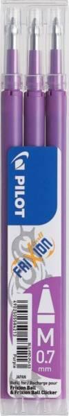 Tintenrollermine FriXion BLS FR7 0,4 mm, lila, 3er Pack