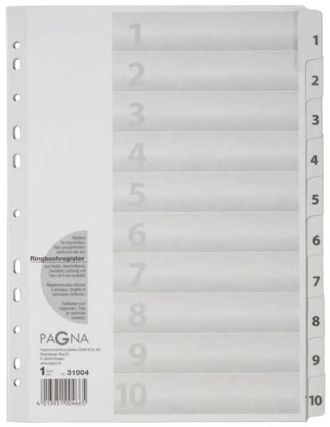 Zahlenregister 1 10, Karton, A4, 10 Blatt, weiß