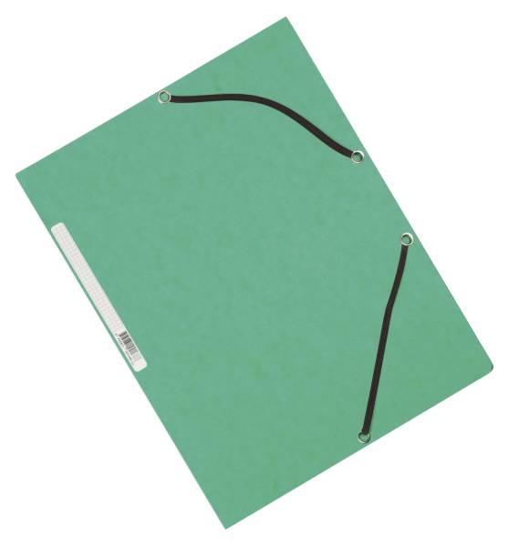 Q-CONNECT Gummizugmappe Karton grün KF02168