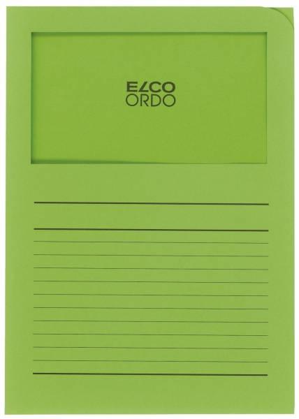 Sichtmappen Ordo classico mit Sichtfenster und Linien, intensiv grün, 100 Stück