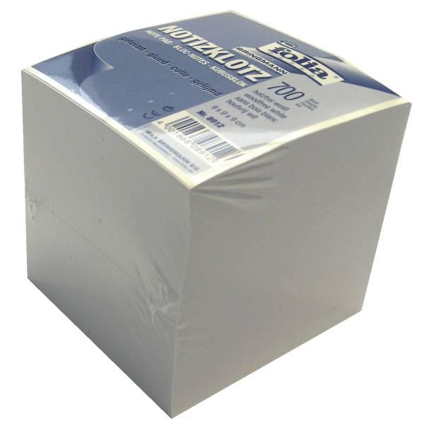 FOLIA Zettelklotz 700BL weiß 8912 geleimt 9x9x9cm