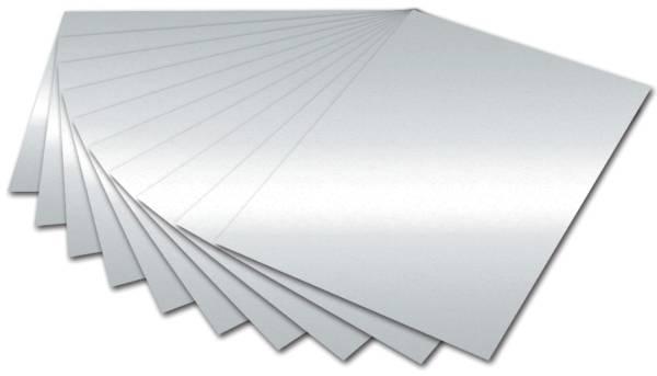 Fotokarton A4, silber glänzend