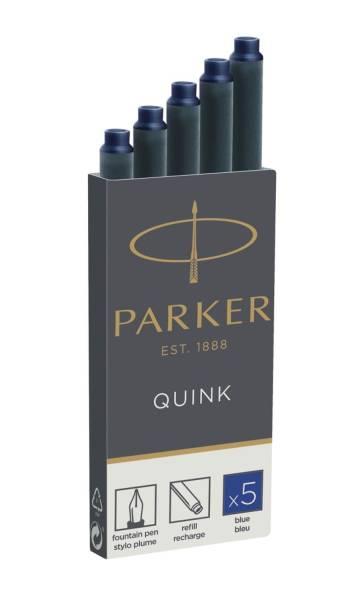 PARKER Tintenpatrone 5ST blau 1950384/S0116240