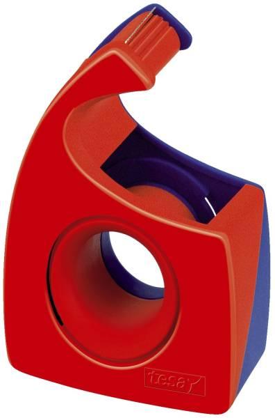Handabroller für Klebefilm tesa Easy Cut, 10 m x 19 mm, rot blau®
