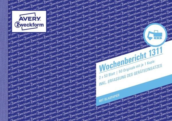 AVERY ZWECKFORM Wochenbericht A5 2x50BL 1311