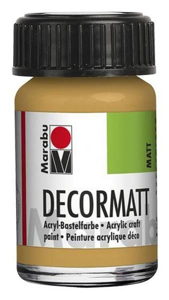 MARABU Decormatt Acryl metallic gold 1401 39 784 15ml Glas
