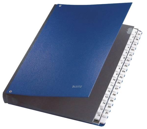 LEITZ Pultordner 1-31 PP blau 59310035 32 Fächer